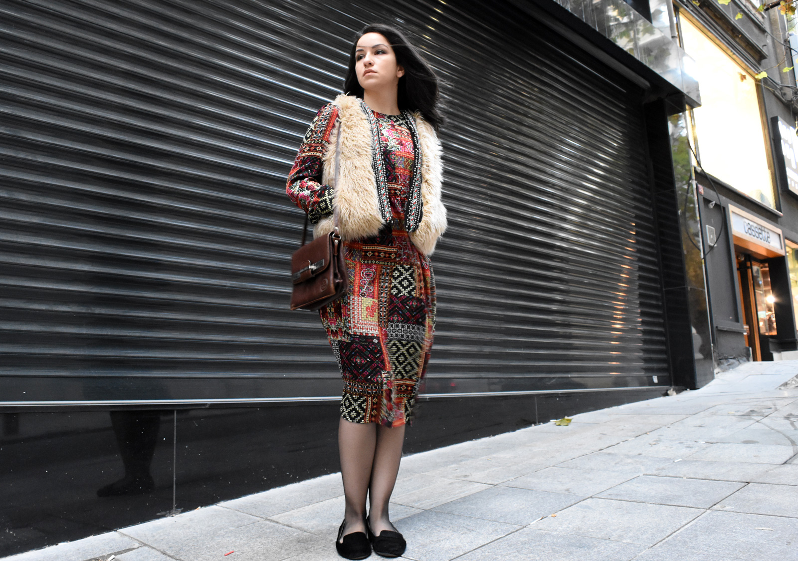 Weekend mode on-sevgin goktas ozsan-sevgingo-zara hm waistcoat patchwork dress DSC_2901