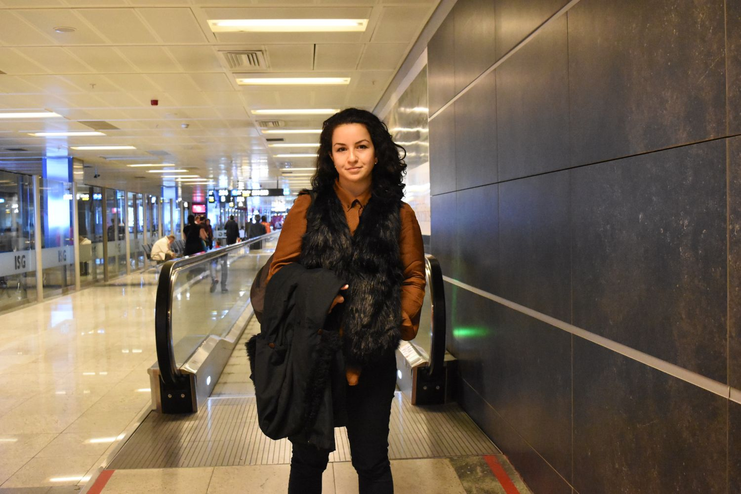 Sevgin Goktas Ozsan at Sabiha Gokcen International Airport