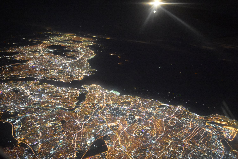 Istanbul View by plane by Sevgin Goktas Ozsan